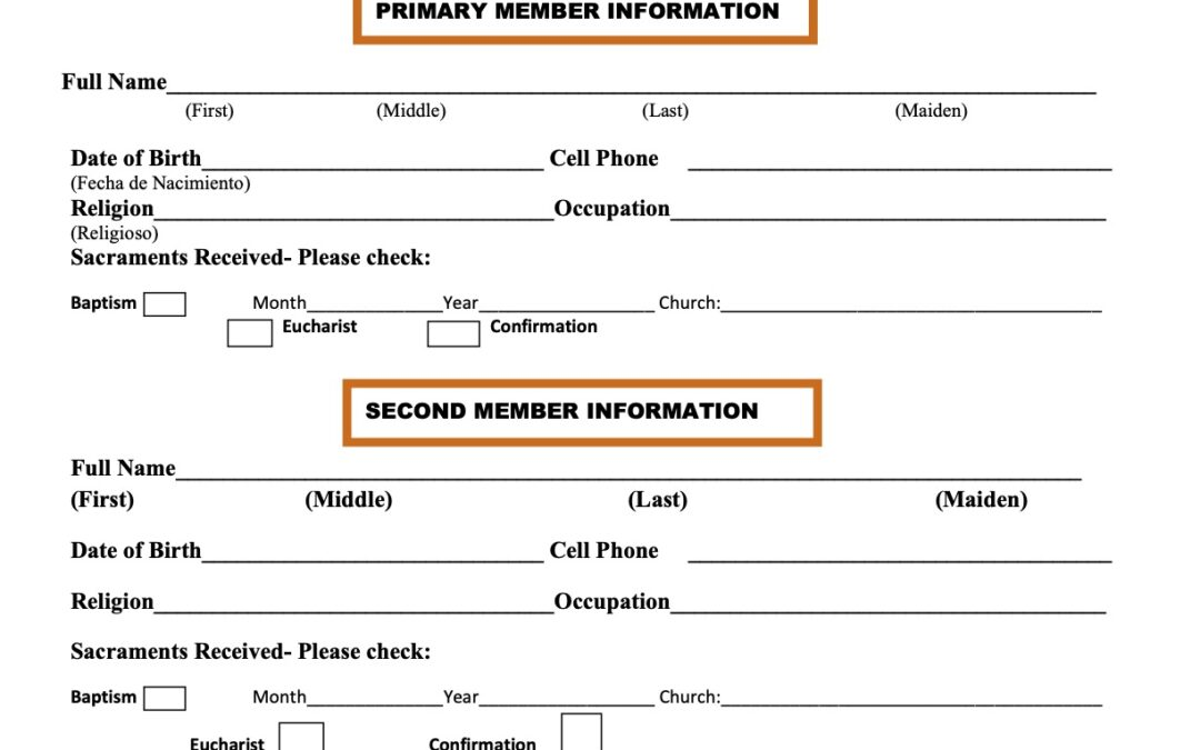 Church Registration Form